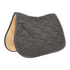Ecole Vogue All Purpose English Saddle Pad Charcoal/Purple - Item # 32882