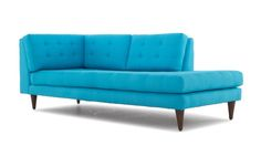 Add some functional fashion to your living room with this bumper chaise, sporting charming tufting and fine fabric.