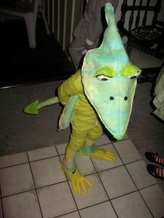 Amazingly crafted Pterodactyl costume. Fun idea for this Halloween!