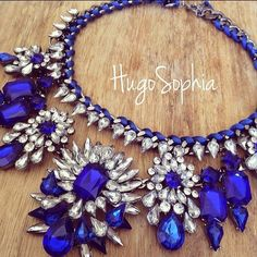 in love with royal blue statement necklaces