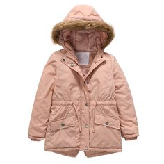 Jarsh Toddler Baby Girl Clothes Butterfly Winter Thick Warm Jacket Hooded Windproof Coat