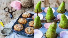 Hrušky a kokos – to je neotřelá kombinace, která stojí za vyzkoušení. Pear, Cupcakes, Fruit, Breakfast, Food, Morning Coffee, Cupcake Cakes, Essen, Meals