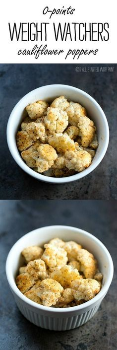 Weight Watchers Zero Point Recipe Idea with Cauliflower - Snack or Side Dish Idea
