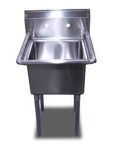 New Commercial Restaurant Stainless Steel (1) One Compartment Sinks Table  24 X24