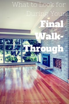 What to Look for During Your Final Walk-Through (free, printable checklists) #realestate #homebuyingtips