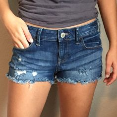 Express Jean shorts (stretchy/comfy) Jean express shorts! Comfy and cute for any occasion! Size 2 but fits anywhere from 2-5. (Which is what I wear, so that's where I get the numbers) Offers are welcome! Express Shorts Jean Shorts