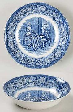 Staffordshire Liberty Blue Fruit/Dessert (Sauce) Bowl
