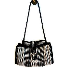 Pamela - ficha Pop cartera Crochet bolso negro y blanco