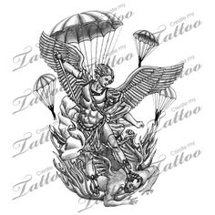 st michael patron of paratroopers tattoo | ... Tattoos on St Michael The Archangel Patron Of Paratroopers Tattoo