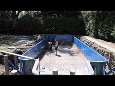 Construction d'une Piscine Hippocampe Music Licensing, Construction, Solar, Architecture, Pools, Outdoor Decor, Furniture, Houses, Projects
