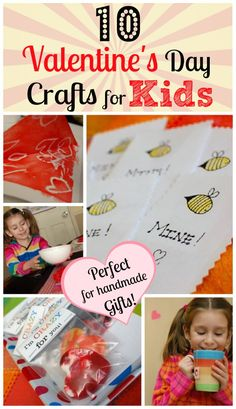 10 Valentine's Day Crafts for Kids - Perfect for handmade gifts the kids can make! #kidscrafts #parenting #ece #preschool