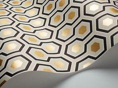 Cole & Son's Hicks Hexagon CHIC IKEA hack - Wardrobe makeover | Seasons in Colour