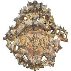 18th c Italian gilt cartouche fragment 1stdibs trouvais