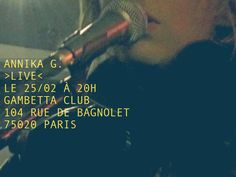 Photo by Antoine Ricard from private concert announcing concert CLub Club, Paris, Concert, Movies, Movie Posters, Ricard, Montmartre Paris, Films, Film Poster
