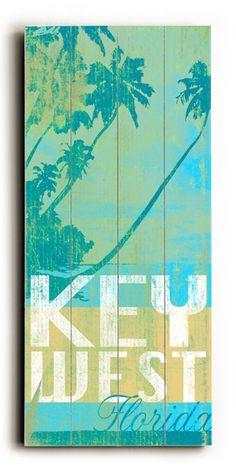 Key West Florida Vintage Beach Sign: Beach Decor, Coastal Home Decor, Nautical Decor, Tropical Island Decor & Beach Cottage Furnishings