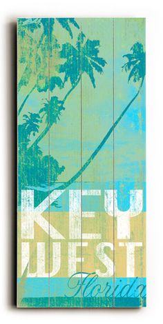 Key West Florida Vintage Beach Sign: Beach Decor, Coastal Home Decor, Nautical Decor, Tropical Island Decor  Beach Cottage Furnishings