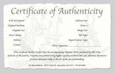 photography certificate of authenticity template.html