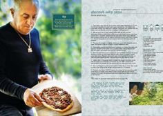 Ghormeh Sabzi Pizza, recipe from the Jewels of Persia Cookbook.