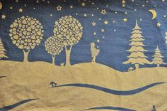 Beautiful limited-edition SHORT RUN woven wrap...I love the pattern of the girl catching stars, though. <3