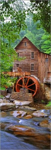 The Glade Creek Grist Mill,Babcock State Park,West Virginia --WV is so beautiful.