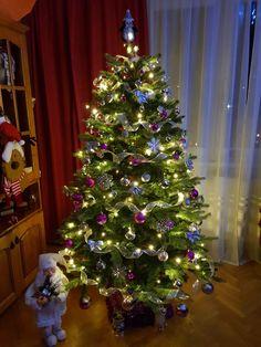 Christmas tree ideeas. Pink. Silver. Santa. Shine. Mine