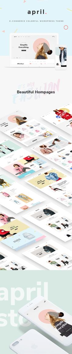 APRIL - Wonderful Fashion WooCommerce WordPress Theme #fashion #mega menu #multipurpose • Available here ➝ https://themeforest.net/item/april-wonderful-fashion-woocommerce-wordpress-theme/20647488?ref=pxcr