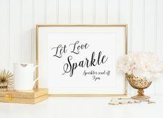 Let Love Sparkle Sign, Wedding Sparkler Send Off Sign, Wedding Exit Sign, Wedding Reception Signs, W
