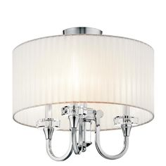 Kichler 42630CH - Parker Point Chandelier/Semi Flush 3Lt in Chrome