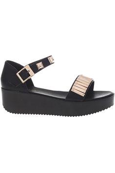 ROMWE | Metallic Upper Platform Sandals, The Latest Street Fashion