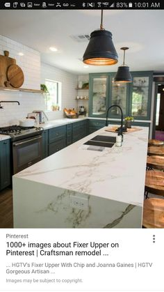 home renovation 15 Best Kitchens by Joanna Gaines - A round up post of the best kitchens by Joanna Gaines! Country rustic and modern charm. Kitchen Ikea, New Kitchen, Kitchen Decor, Kitchen Cabinets, Glass Cabinets, Kitchen Sink, Blue Cabinets, Country Kitchen, Cabinets Direct