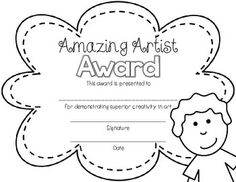 End of Year Awards {Black and White for Easy Printing}...just print on colored paper or neon cardstock, write the name of your student, sign and date, and they're ready to go! Piece of cake, piece of pie!