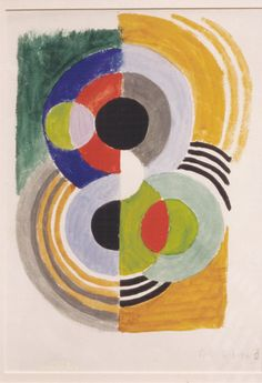 Composition 18, 1930 by Sonia Delaunay. Orphism. design