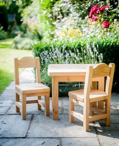 Childrens Table and Chair Set by KnottedOakFurniture
