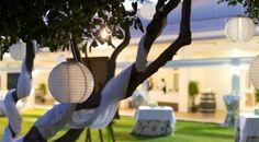 #Parador de #Malaga #golf #banquete en el exterior #cocktel #bodas #ideales #bodasenlaplaya #detalle decoración exterior
