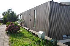 modern houseboat entrance