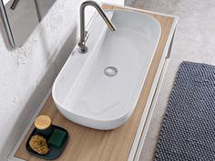 Countertop rectangular ceramic washbasin GLAM   Rectangular washbasin by Scarabeo Ceramiche