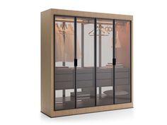 Armadio Eracle -Maxalto - Design of Antonio Citterio Bench Furniture, Modern Furniture, Furniture Design, Clothes Rail Cover, Max Alto, Executive Office Furniture, Italia Design, Painted Chest, Grey Oak