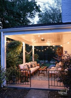 Porch Decorating, Summer Decorating, Outdoor Deck Decorating, Outdoor Spaces, Outdoor Living, Outdoor Patios, Outdoor Kitchens, Outdoor Bars, Building A Porch