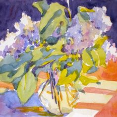 3 color lilacs final, painting by artist Jo MacKenzie
