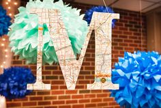 More of the travel-theme wedding.....love this map monogram