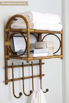 Bent Wood | Bamboo | Towel Rack | Cottage Bathroom | The Lettered Cottage