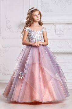 Peach Flower Girl Dress Peach Bridesmaid Dress Peach Flower | Etsy
