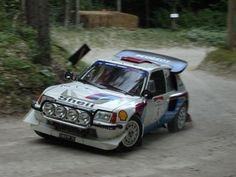 Peugeot 205 T16 in Action on the 2008 Goodwood Rally Stage