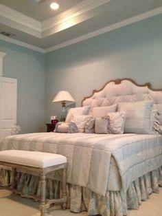 Elegant Blue Bedroom - contemporary - bedroom - other metro - by Bella+Olivia Interiors