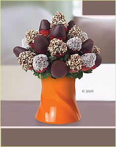 chocolate strawberries bouquet