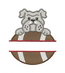 Split Bulldog Football Applique - 3 Sizes! | What's New | Machine Embroidery Designs | SWAKembroidery.com Applique for Kids