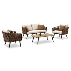 Found it at AllModern - Blosser 4 Piece Lounge Seating Group with Cushion