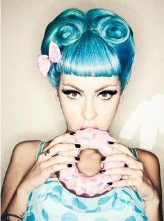 Retro Blue Hair