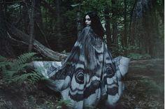 moth wings fairy cloak from El Costurero Real//$227+