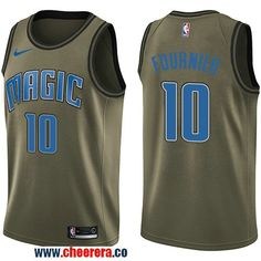 f8825b758da Men s Nike Orlando Magic  10 Evan Fournier Green Salute to Service NBA  Swingman Jersey Los